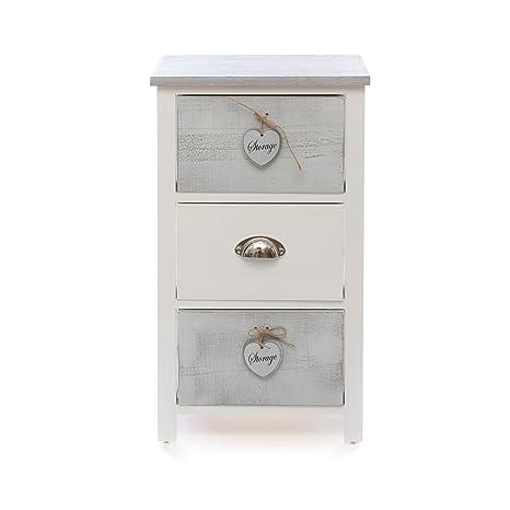 Mobiletto in legno Con 3 cassetti e pendenti: Amazon.it: Casa e cucina