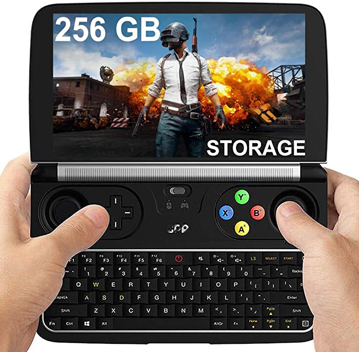 "GPD Win 2 [256GB M.2 SSD Storage] Mini Handheld Windows 10 Video Game Console Gameplayer 6"" Laptop Notebook Tablet PC CPU M3-8100Y lntel HD Graphics 615 8GB/256GB"