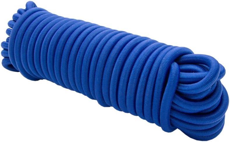 Cuerda expansora 20 m azul 4 mm cuerda el/ástica cuerda el/ástica cuerda de tensi/ón cuerda de lona cuerda el/ástica tensi/ón y sujeci/ón