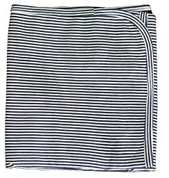 Kissy Kissy Baby Essentials Striped Receiving Blanket-Navy-One Size
