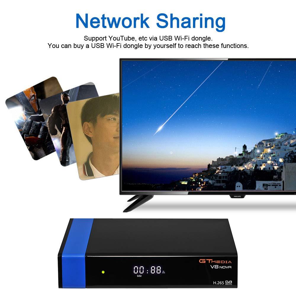 Docooler GTMEDIA V8 NOVA Blue Set Top Box Universal DVB-S2 TV Receiver Digital Video Broadcasting Receiver Full HD 1080P Built-in WiFi Support H.265 EPG by Docooler (Image #3)