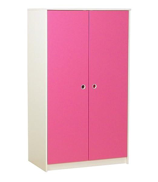 Flexa Kleiderschrank Klaus 2 Turig Kinderzimmer Schrank Weiss Pink