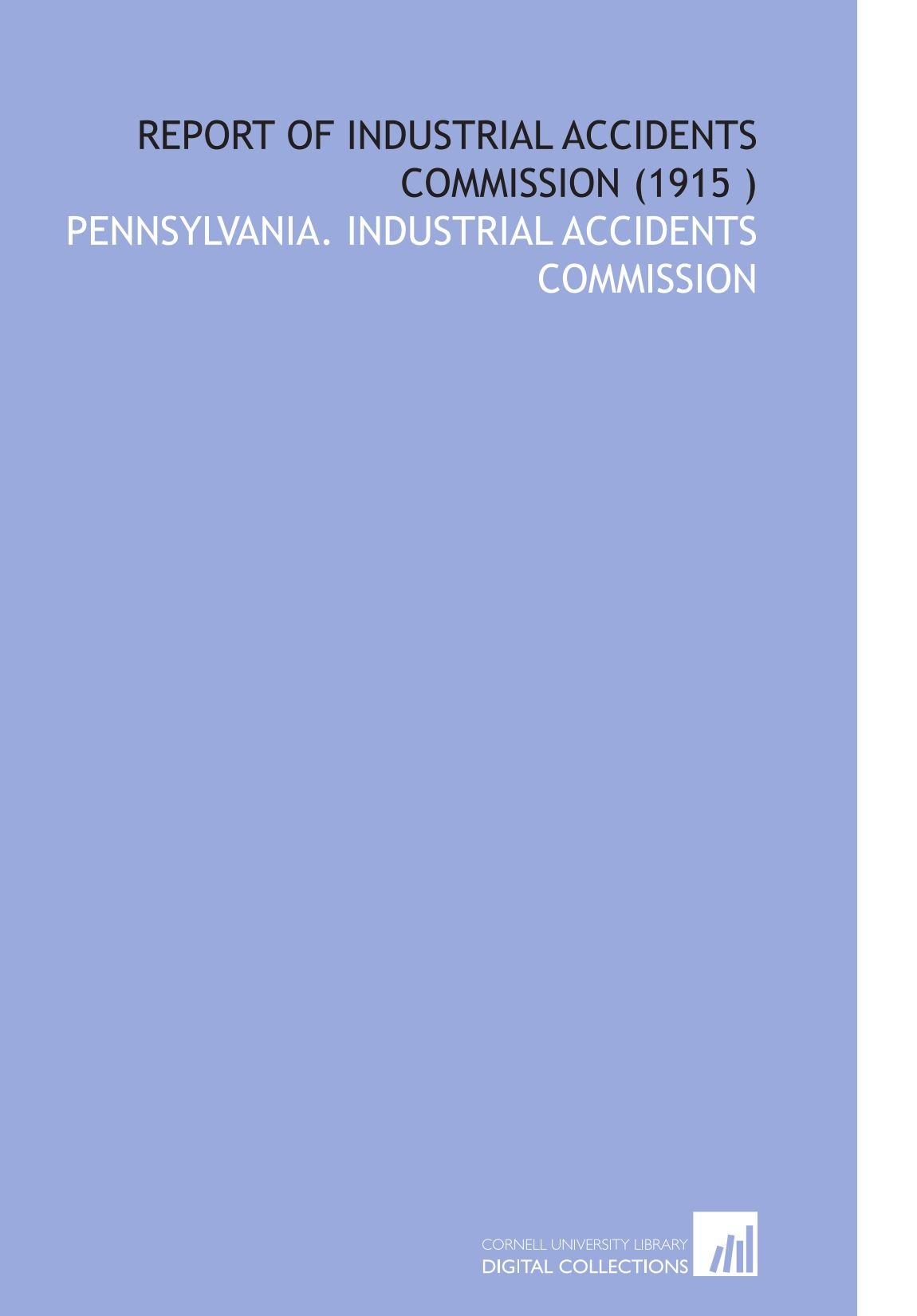 Download Report of Industrial Accidents Commission (1915 ) pdf epub