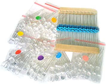 Amazon Com Microtivity Il188 5mm Assorted Clear Led W Resistors 8 Colors Pack Of 80 Home Improvement