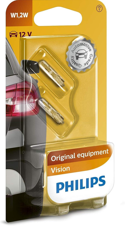 Philips 12516B2 Vision - Bombilla W1,2W para indicadores (2 unidades)