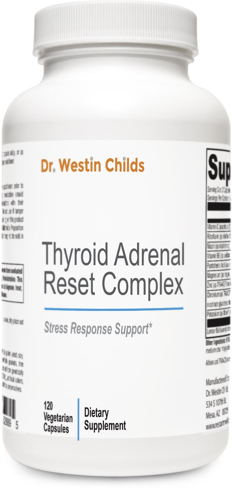 Thyroid Adrenal Reset Complex - #1 Adrenal and Thyroid Support Supplement for Hypothyroid Patients with Thyroid/Adrenal Restoration Blend & Anti-inflammatory Blend - Non-GMO - 60 Day Supply