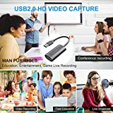 Rosmarinus USB Video Capture Card - HDMI to USB 2.0 Capture Card Device - Stream and Record in 1080p30 - Compatible with VLC/OBS/Amcap- for Live Stream,Record, Broadcast,Games, Xbox,PS3,PS4