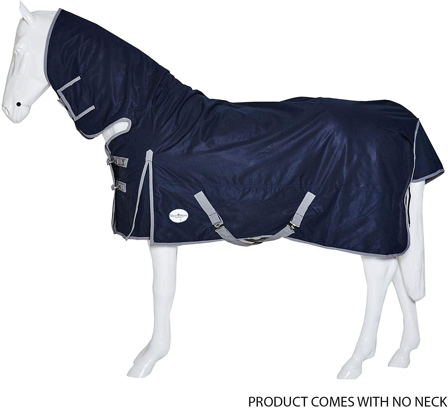 White Horse Equestrian Plain Turnout Rug Horse Pony Outdoor No Fill NO NECK