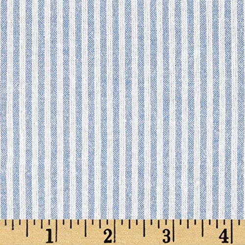 (Fabric Stretch Seersucker Stripe Light Blue/White)