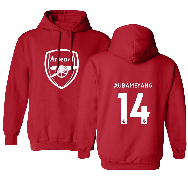 TCAMP Borussia DortmundシャツPierre Emerick Aubameyang # 17ジャージーメンズフード付きスウェットシャツ レッド Youth Small