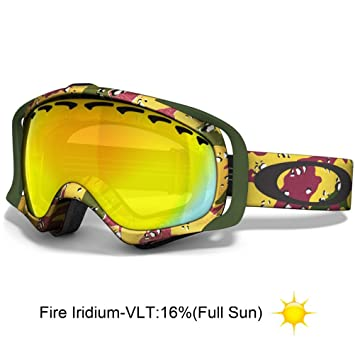 oakley rasta goggles rnyb  Oakley Crowbar Tanner Hall Signature Series Snow Goggle with Fire Lens
