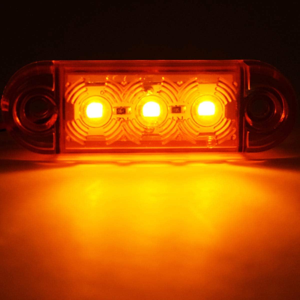 luci anteriori universale indicatore di posizione 12//24/V con arancione lampadine per camion caravan Van camion auto Bus X20/laterali luci lampade a LED