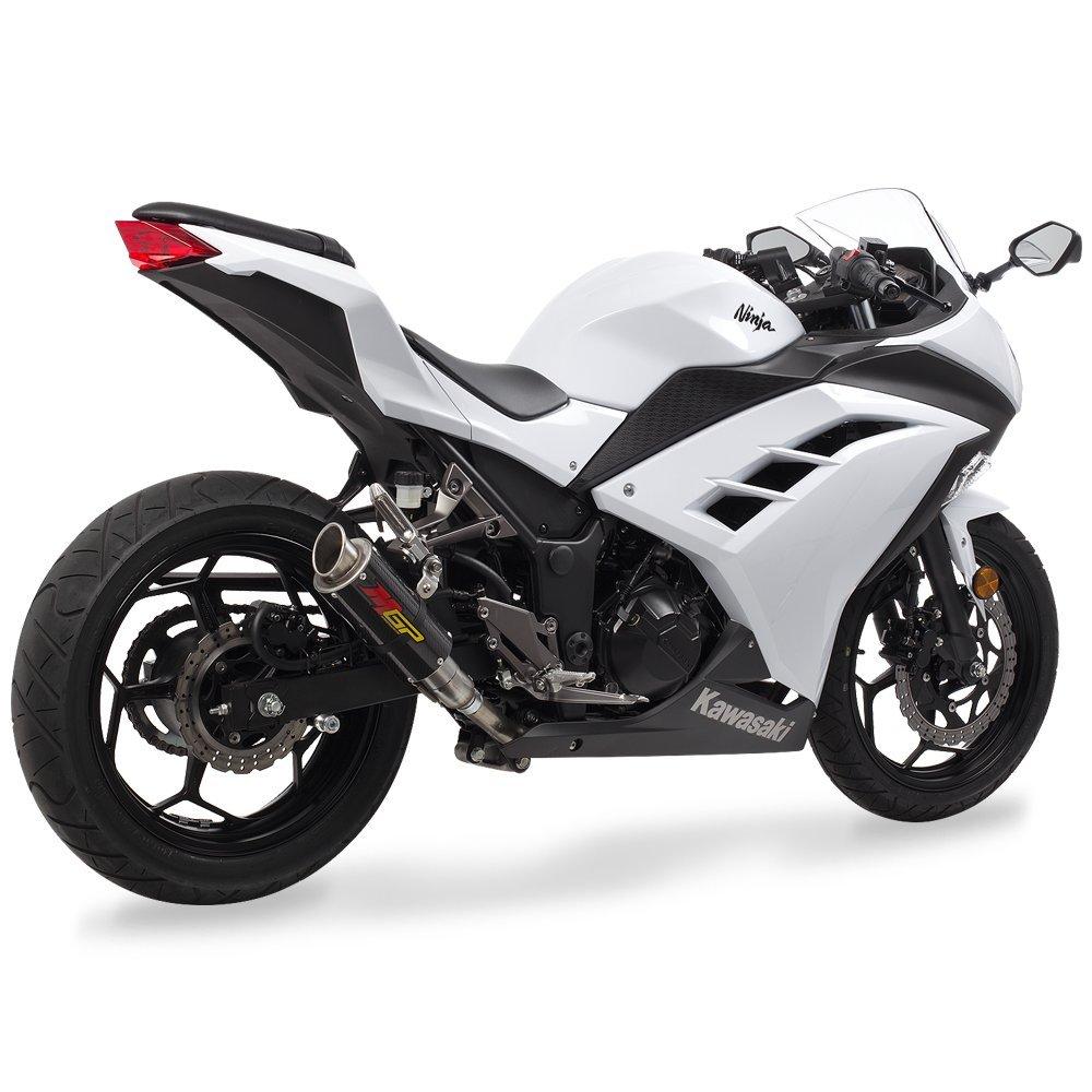 Hotbodies Racing 51303-2404 KAW. Ninja 300 (13-15) MGP Exhaust - CF w/Stainless End Cap