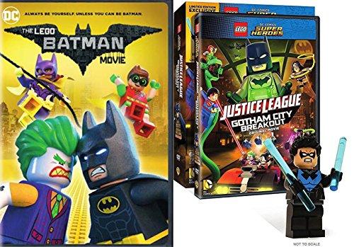Lego Nightwing Figure & Batman the Movie DC Comics Super Hero JusticeLeague Gotham City Breakout Double Feature