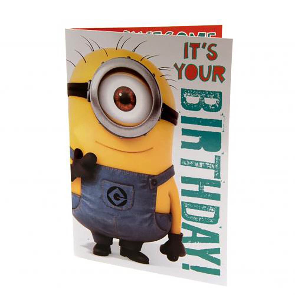 Amazon Despicable Me Musical Birthday Card Minions Sports