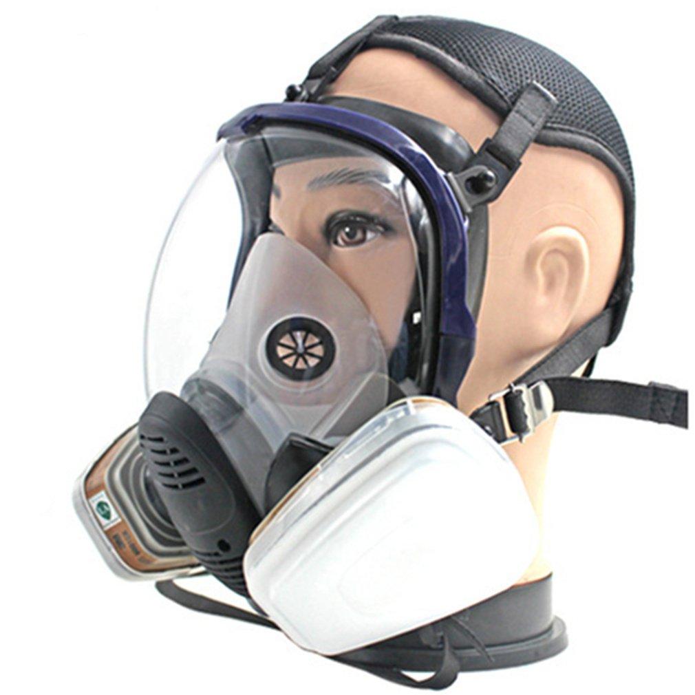 REBUNE 7 In 1 Set Full Face Gas Mask Full Facepiece Respirator For Painting Spraying Protection Tool by REBUNE (Image #2)