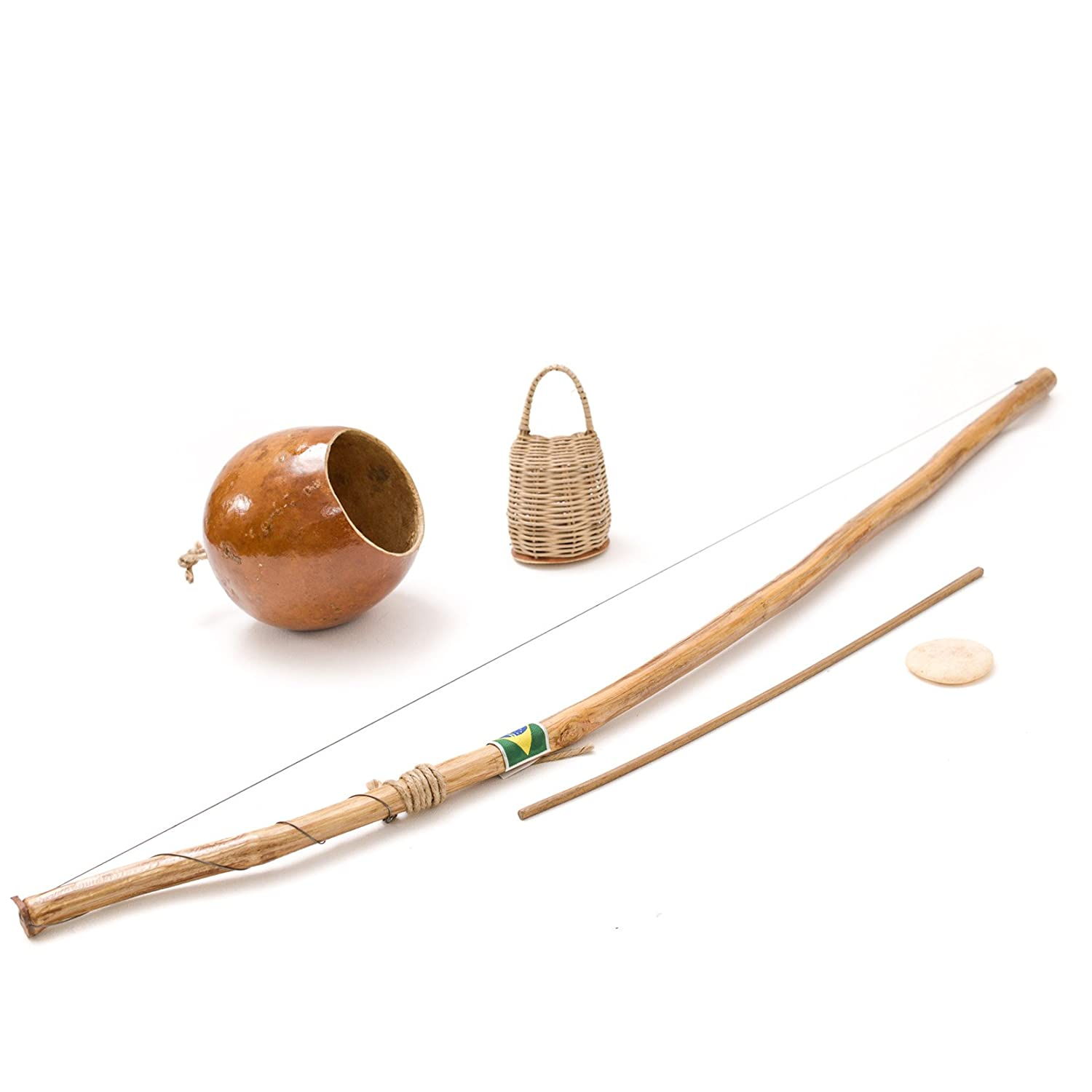 165 cm Full Size Brazilian African Berimbau String Bow Capoeira Music Instrument Wood Handmade - Set