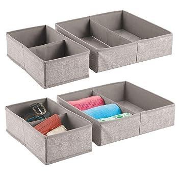 meilleure sélection edfdf c61f9 mDesign boîte de Rangement pour armoires ou tiroirs (Lot de ...
