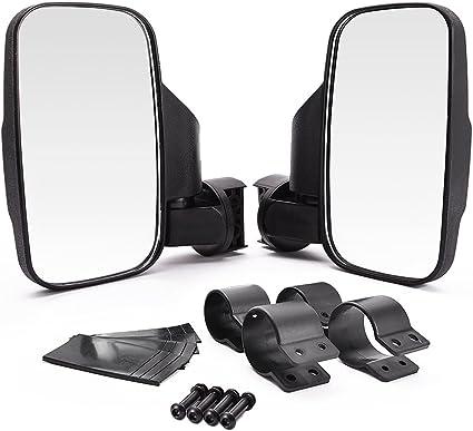 "Pair 7/"" UTV Heavy Duty Side View Mirror 1.75/""//2/"" Clamp for Polaris Ranger//RZR"