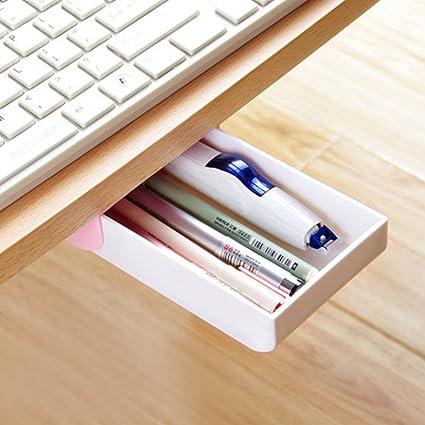 Nakimo Drawer Pencil Tray Self Adhesive Pop Up Hidden Desktop Organizer Pink