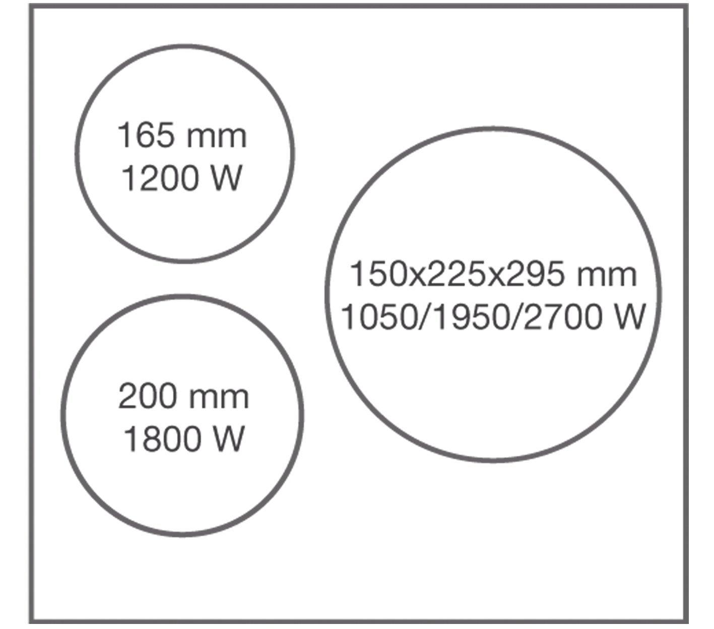 Vitrocerámica HOGARCLICK HCKV3-571M, 8.700W, tres zonas de cocción