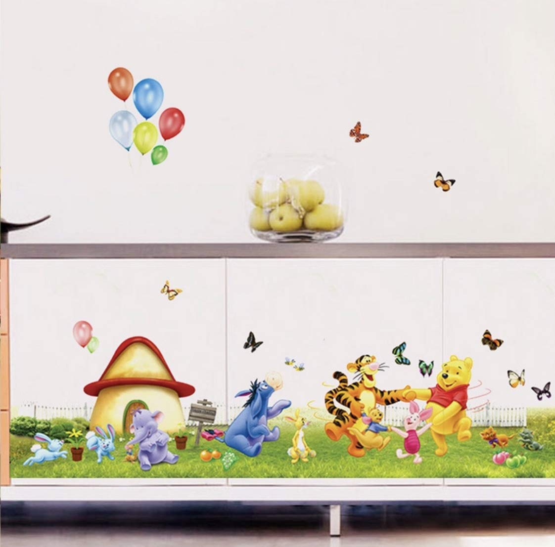 Wall Decor Stickers for Babes and Kids Room Vinnie The Pooh