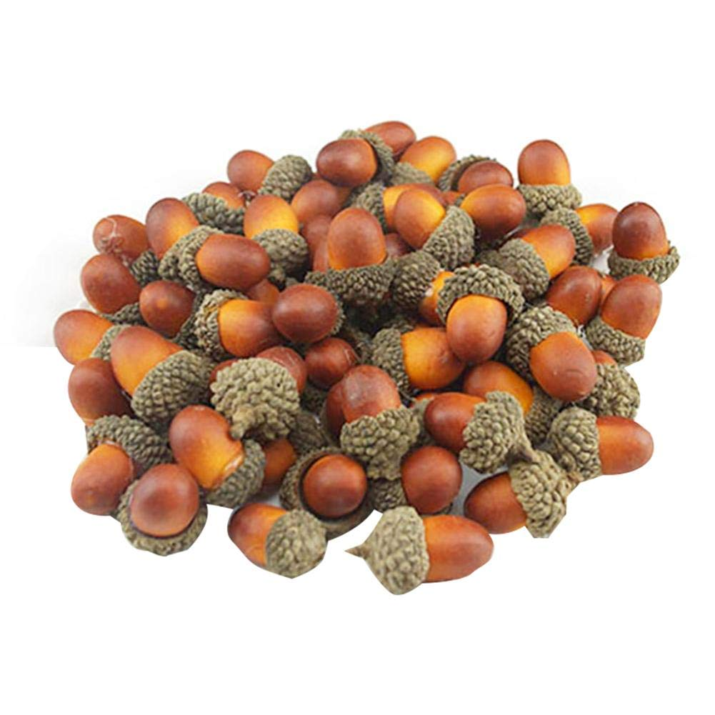 40PCS / Package Simulation Acorn Mini Artificial Foam Pine Nuts Christmas Tree Decoration Wedding Scene Decoration Shooting Props Lucky-all star