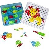 Giocattoli di Costruzione Puzzle di Mosaico Assemblaggio Giocattoli DIY per Bambini 96 Pezzi