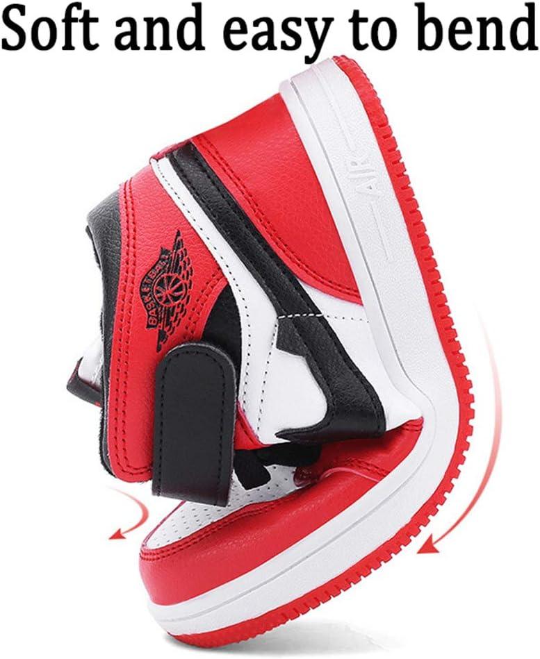 Middle School Children Mesh Respirant Fashion Sneakers Adolescents antid/érapantes Damping Formateurs Professionnels de Basket-Ball,Bleu,26 CXQWAN Basket-Ball Chaussures de Sport