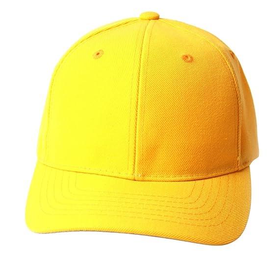 35aae746034a48 TOP HEADWEAR TopHeadwear Solid Yellow Adjustable Hat at Amazon Men's ...