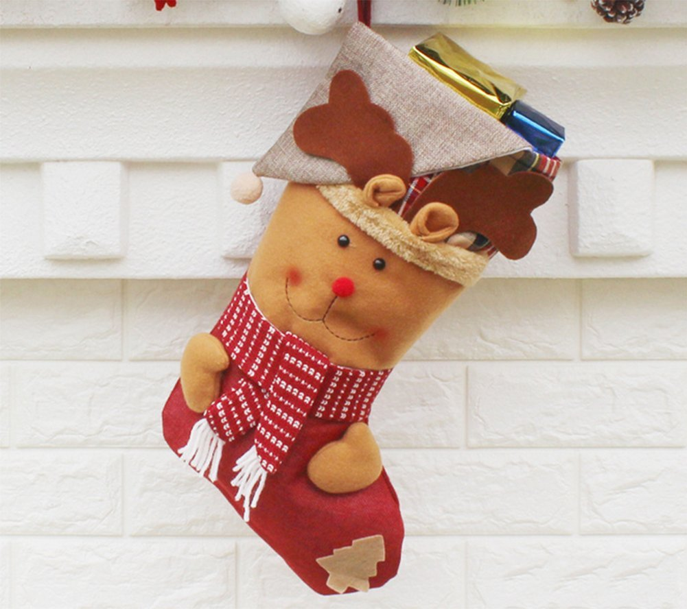 YiLianDa Calcetines De Navidad Mu/ñeco De Nieve De Caramelo Calcetines Regalos De La Decoraci/ón Del Bolso Calcetines