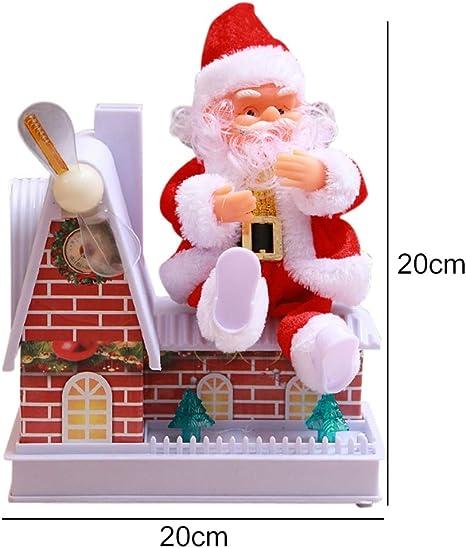 Forart Santa Claus Climbing Chimney Doll Electric Toy con música Christmas Santa Claus Doll Toy Regalo de Navidad para niños: Amazon.es: Hogar