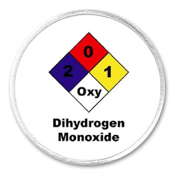 Amazon dihydrogen monoxide symbol 3 sew iron on patch dhmo dihydrogen monoxide symbol 3quot sew iron on patch dhmo h2o humor joke publicscrutiny Image collections