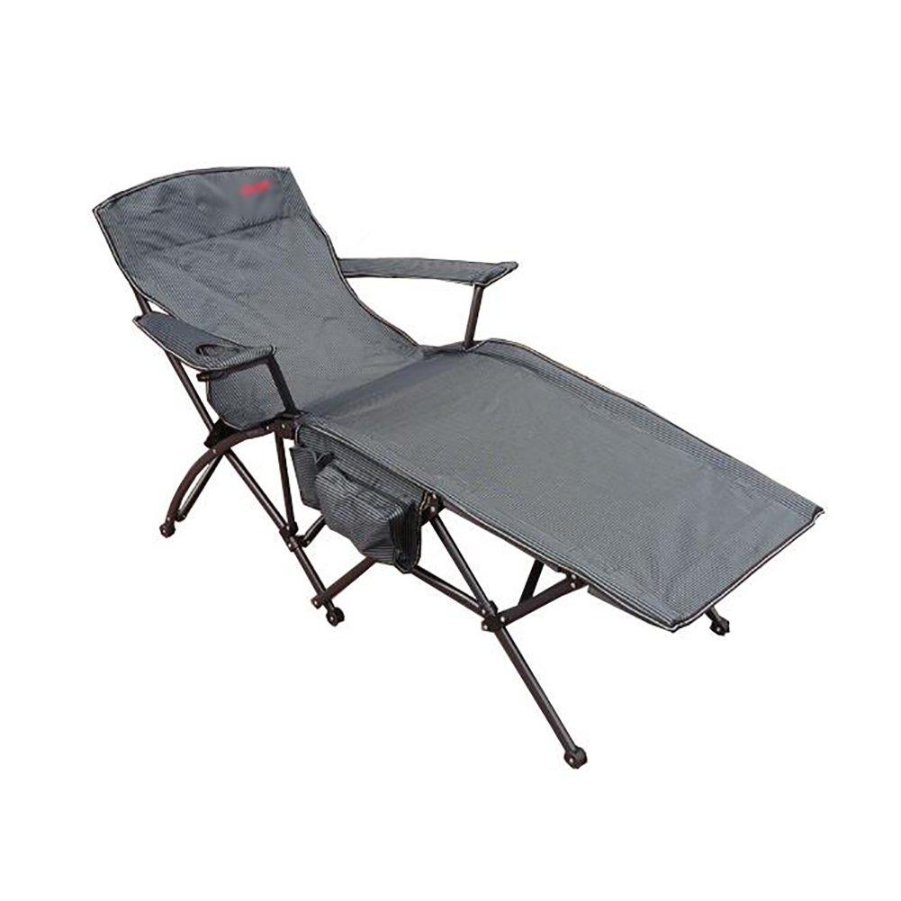 Liegestuhl Im Freien Leichter Tragbarer Faltender Kampierender Stuhl-Recliner-Büro-Mittagessen-Stühle Für Das Wandern Des Fischen-Strandes