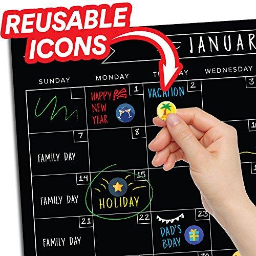 Magnetic Dry Erase Fridge Calendar - 17
