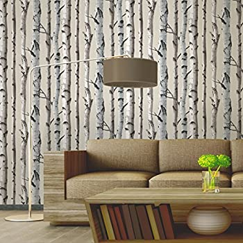 Fine Decor Natural Beige / Cream   Fd31051   Birch Tree   Forest Woods    Wallpaper