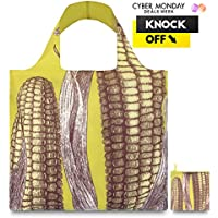LOQI™ Reusable Grocery Foldable Bags ✔ ECO Shopping HandBags ✔ Tote Bags ✔ Shoulder Bags with Zipper Pouch ✔ Polyester ✔ Farm Maize