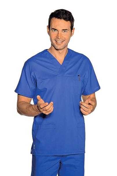 Isacco - Casaque médica cuello en V Unisex azul cian: Amazon.es: Ropa y accesorios