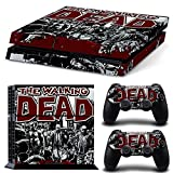 ZoomHit PS4 Playstation 4 Console Skin Decal Sticker The Walking Dead + 2 Controller Skins Set For Sale