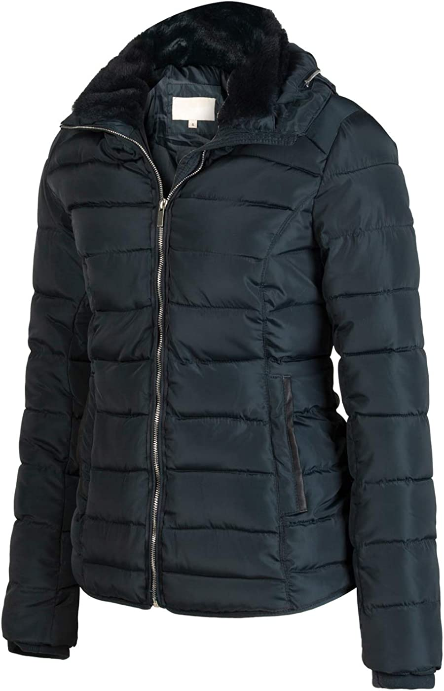 Bellivera Womens Quilted Lightweight Padding Jacket Puffer Bubble Coat Cotton Filling for Spring Fall and Winter