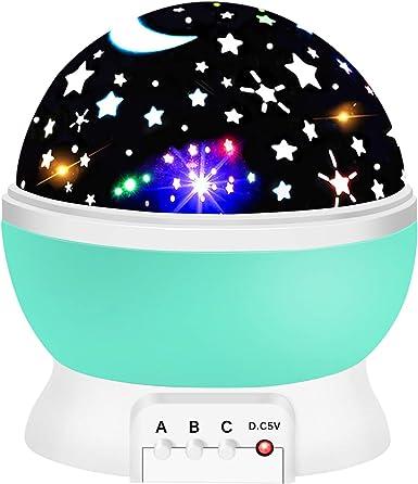 Amusing Moon Star Projector Light for Kids Festival Gifts Christmas Gift