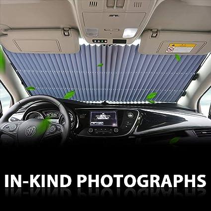 Fangteke Rideau R/étractable de Voiture Pare-Brise de Protection UV Accessoires de Pare-Soleil pour Voiture Automobile