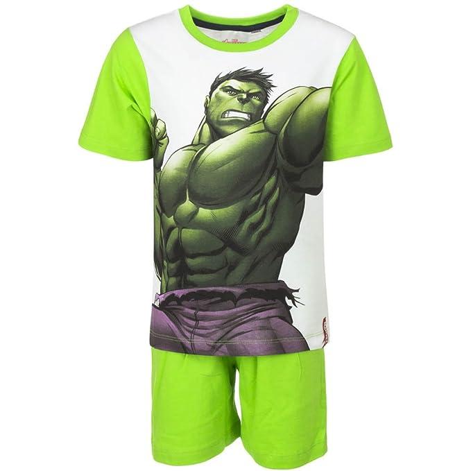 Super Heroes Marvel Avengers - Conjunto Pijama - para niño - QE2114 [Verde - 6