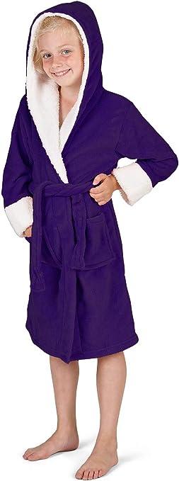 Javoli Robe de chambre enfant Mickey Gar/çon Fille Ultra douce Peignoir