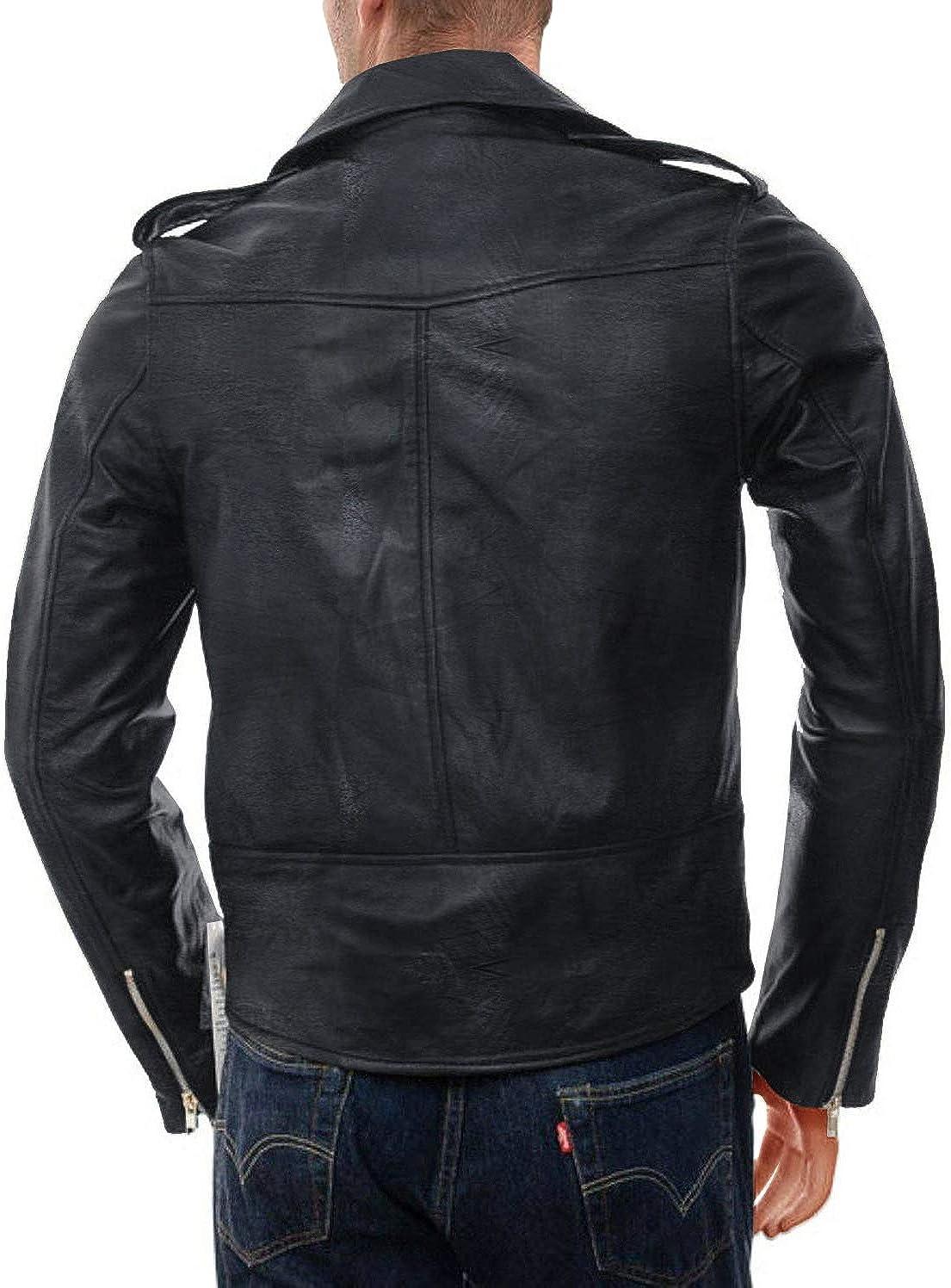 Black, Double Rider Jacket Laverapelle Mens Genuine Lambskin Leather Jacket 1501428
