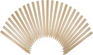 "25 Pack 12"" Wood Stakes for Garden Marking, Paint Stirring and Crafts"