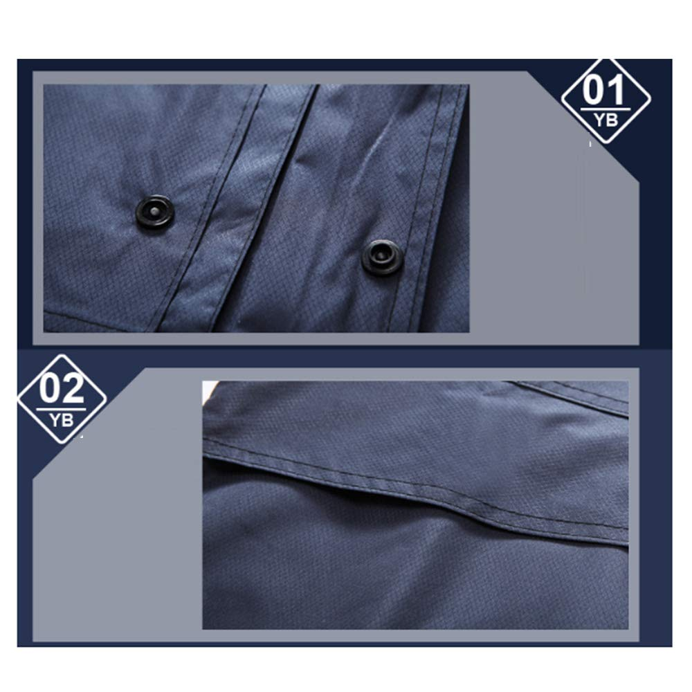 Wenanliu Imperméable Vert Marine Fendu imperméable Double épaisseur imperméable Hommes et Femmes Pantalon de Pluie imperméable Adulte Costume sécurité Patrouille L165