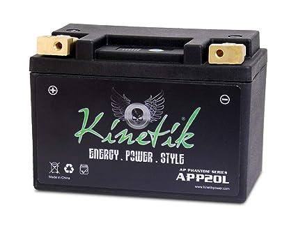 31f92fb277 Amazon.com: Kinetik LiFePO4 12V 20-24ah 370 CCA PowerSport Battery ...