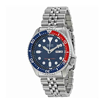 finest selection 16fc9 4045e Seiko Men's SKX009K2 Diver's Analog Automatic Stainless Steel Watch