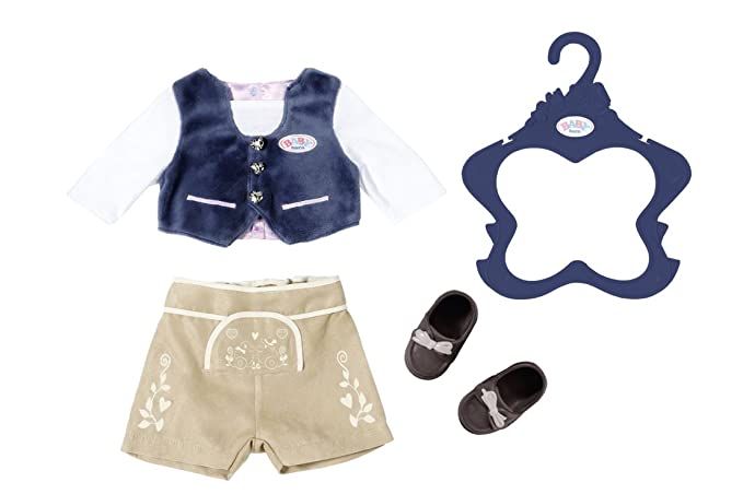 Zapf Creation 824511 Baby Born Trachten-Outfit Junge, bunt
